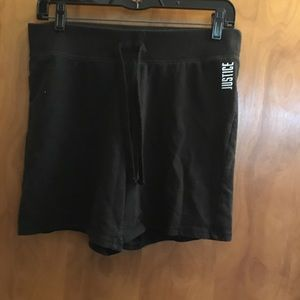 Justice brand knit shorts